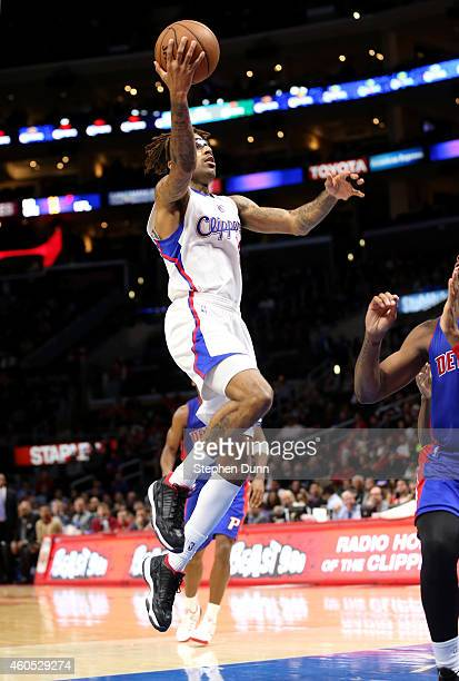 Chris DouglasRoberts of the Los Angeles Clippers goes up for a shot against the Detroit Pistons at Staples Center on December 15 2014 in Los Angeles...