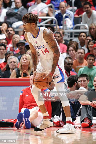Chris DouglasRoberts of the Los Angeles Clippers handles the ball against the Oklahoma City Thunder on October 30 2014 at Staples Center in Los...