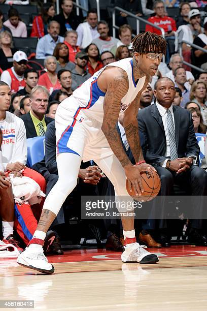 Chris DouglasRoberts of the Los Angeles Clippers handles the ball against the Oklahoma City Thunder on October 30 2014 at the Staples Center in Los...