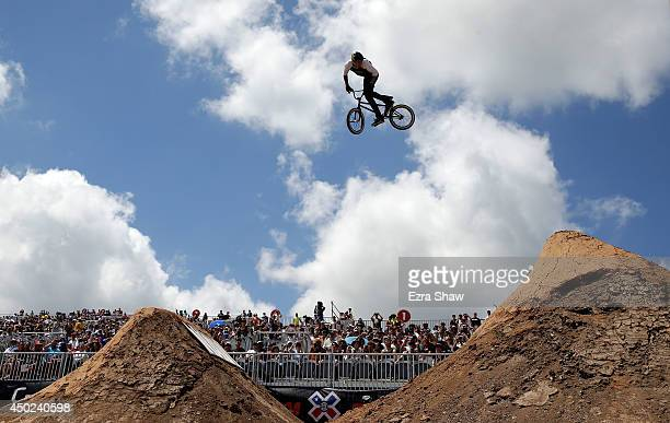 Chris Doyle competes in the BMX Dirt Finals during the X Games Austin at Circuit of The Americas on June 7 2014 in Austin Texas