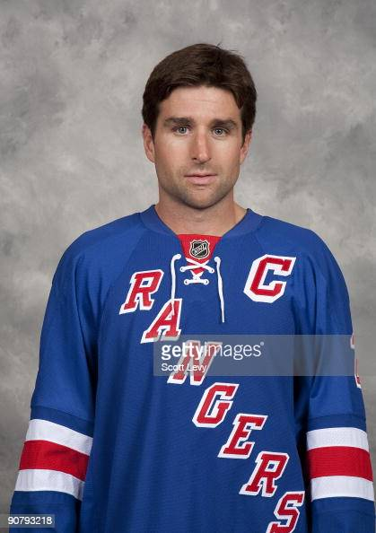Chris Drury of the New York Rangers poses for his official headshot for the 20092010 NHL season