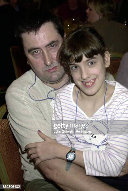 Chris Duffin with his daughter Lisa at the Hilton hotel in London for the 21st annual child of achievement awards The awards honour children who have...