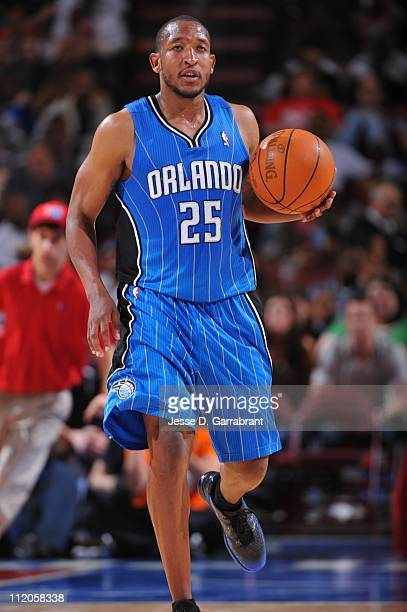 Chris Duhon of the Orlando Magic dribbles the ball against the Philadelphia 76ers during a game on April 11 2011 at the Wells Fargo Center in...