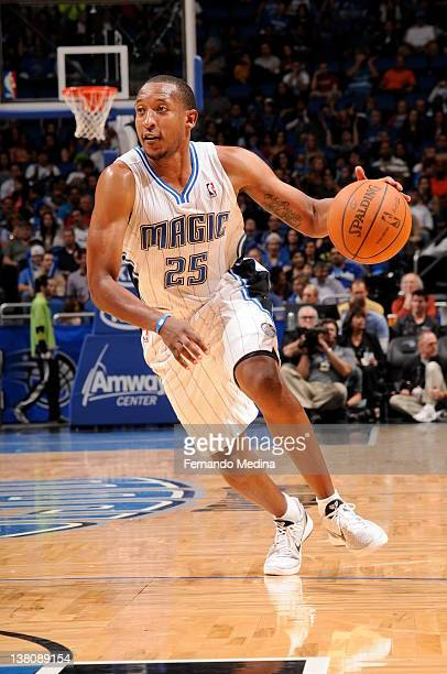 Chris Duhon of the Orlando Magic drives against the Washington Wizards during the game on February 1 2012 at Amway Center in Orlando Florida NOTE TO...