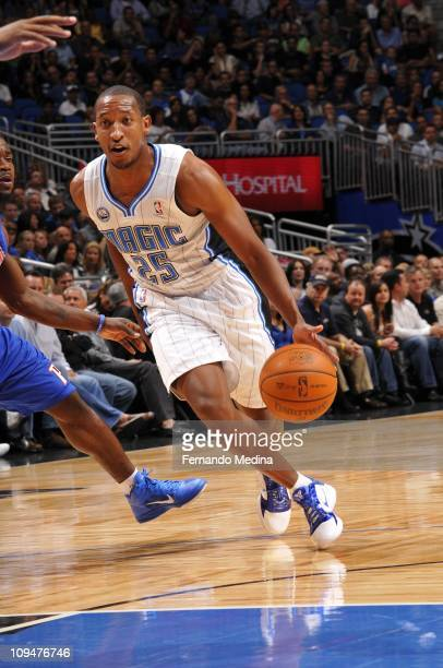 Chris Duhon of the Orlando Magic moves the ball against the Detroit Pistons on November 30 2010 at the Amway Center in Orlando Florida NOTE TO USER...