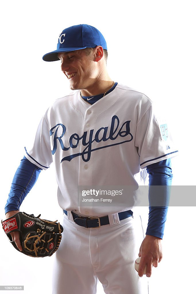 Chris Dwyer of the Kansas City Royals poses for a portrait during Spring Training Media Day on February 23 2011 at Surprise Stadium in Surprise...