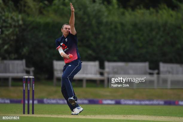 Chris Edwards of England runs into bowl during the INAS Learning Disability TriSeries Trophy Final match between England and South Africa on July 21...