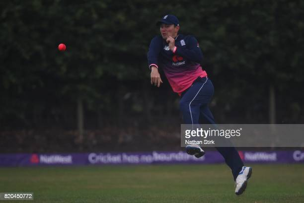 Chris Edwards of England throws the ball during the INAS Learning Disability TriSeries Trophy Final match between England and South Africa on July 21...
