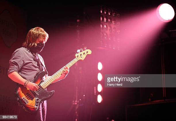 Chris Edwards of Kasabian performs on stage at BIC on November 25 2009 in Bournemouth England