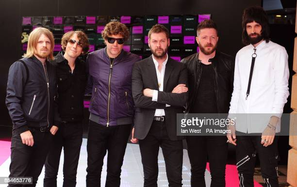 Chris Edwards Tim Carter Ian Matthews Tom Meighan Ben Kealey and Sergio Pizzorno of Kasabian attend the screening of Kasabian's Summer Solstice gig...