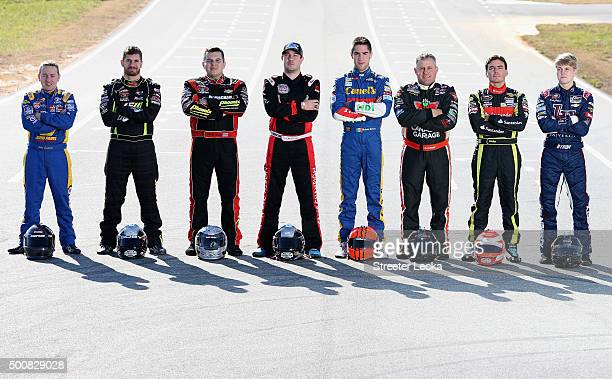 Chris Eggleston Doug Coby Andy Seuss Lee Pulliam Ruben Garcia Jr Scott Steckly Ander Vilarino and William Byron pose for a portrait during the NWAAS...