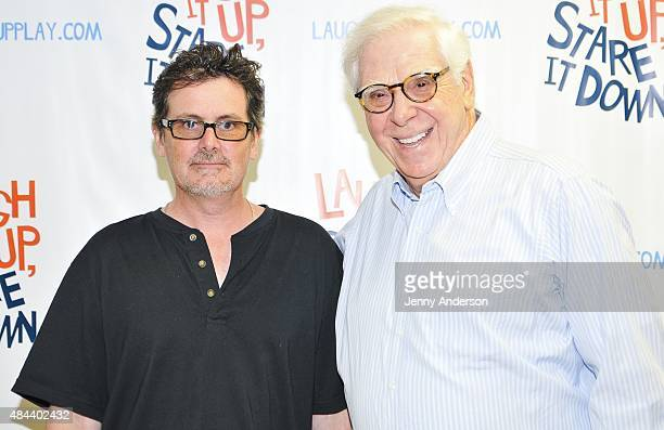 Chris Eigeman and Alan Hruska attend 'Laugh It Up Stare It Down' cast photocall at Anne L Bernstein Studio on August 18 2015 in New York City