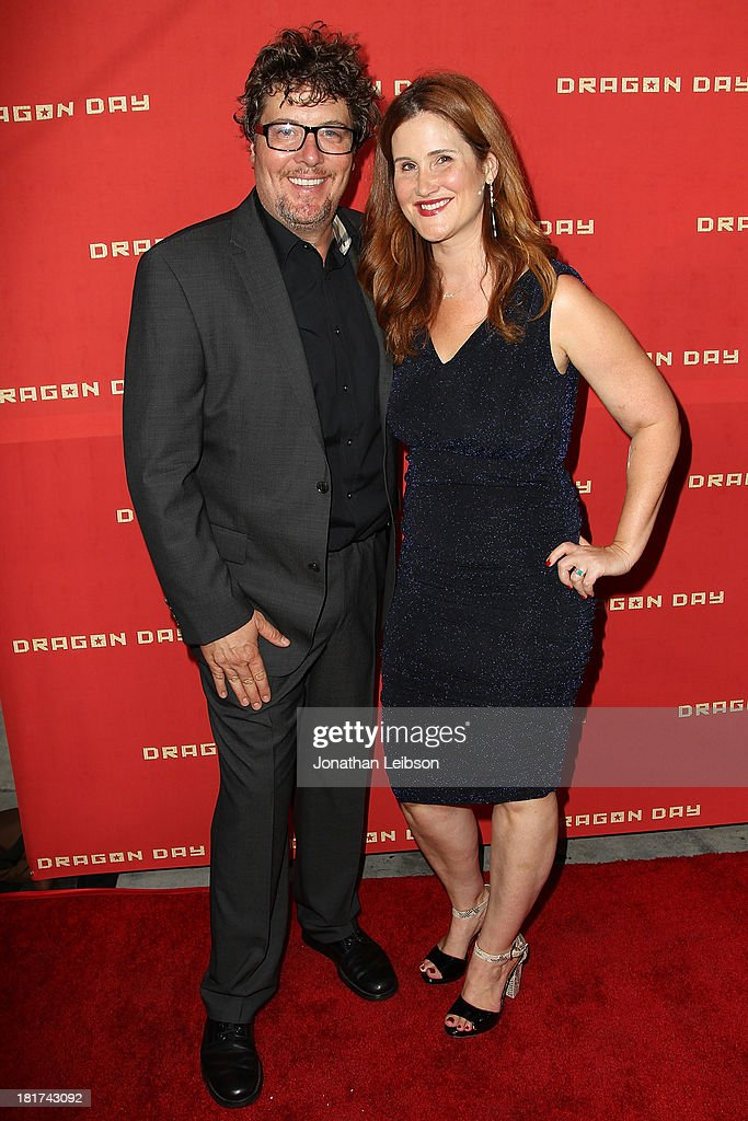 Chris Ekstein and Stacy Ekstein attend the 'Dragon Day' Red Carpet at Downtown Independent Theatre on September 23, 2013 in Los Angeles, California.