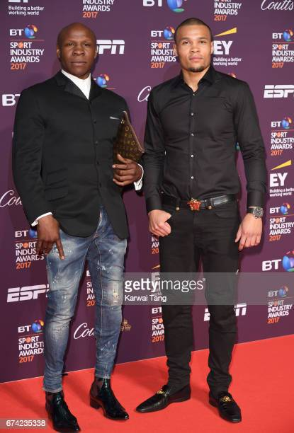 Chris Eubank and Chris Eubank Jr attend the BT Sport Industry Awards at Battersea Evolution on April 27 2017 in London England
