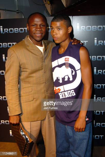 Chris Eubank and guest during 'I ROBOT' London Premiere After Party and Inside Arrivals at Fabric in London England Great Britain