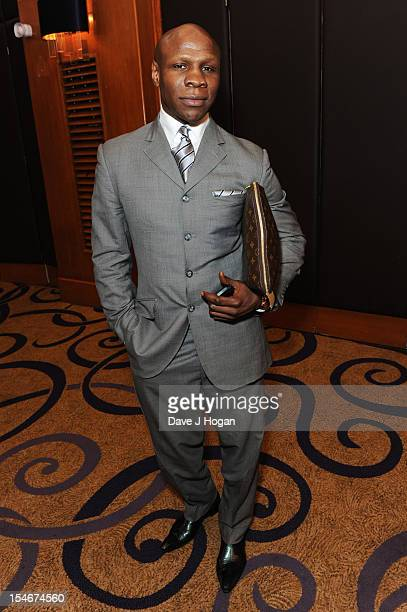 Chris Eubank attends a Nordoff Robbins Boxing fundraising dinner at The Grand Connaught Rooms on October 24 2012 in London England