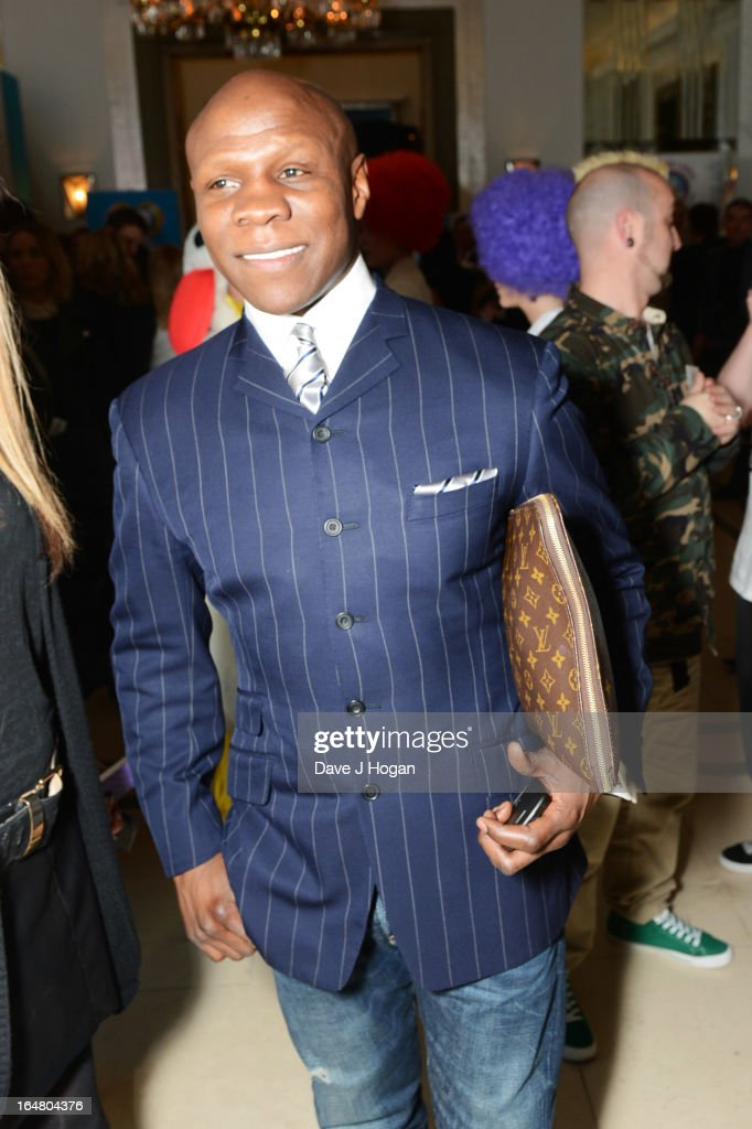 Chris Eubank attends the Health Lottery champagne tea at Claridges on March 28, 2013 in London, England.