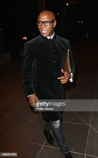 Chris Eubank attends the Late Late Show on January 22 2016 in Dublin Ireland