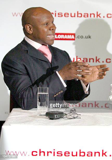 Chris Eubank during Former Middleweight Champion Chris Eubank Launches His Own PayPerView Website April 25 2006 at Malmaison Hotel in London Great...