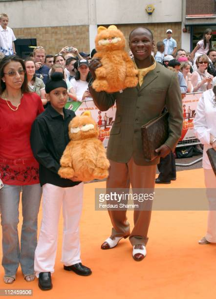 Chris Eubank during The UK Charity Premiere Of 'Garfield the Movie' Arrivals at Liecester Square Vue Cinema in London Great Britain