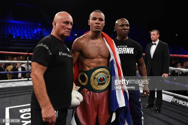 Chris Eubank Jnr defeats Arthur Abraham for the IBO World World Super Middleweight title at Wembley Arena on July 15 2017 in London England