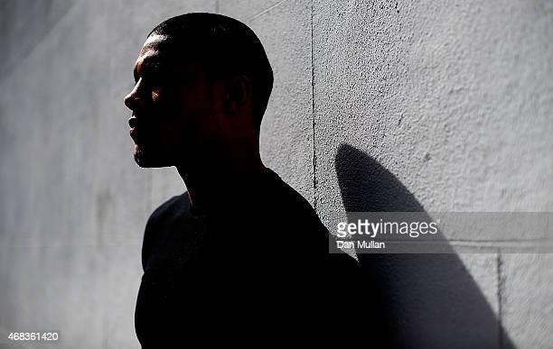 Chris Eubank Jnr poses following a press conference at Fredericks Restaurant on April 2 2015 in London England