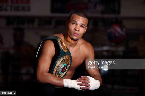 Chris Eubank Jnr poses for a photo during a media workout at on September 28 2017 in Hove England