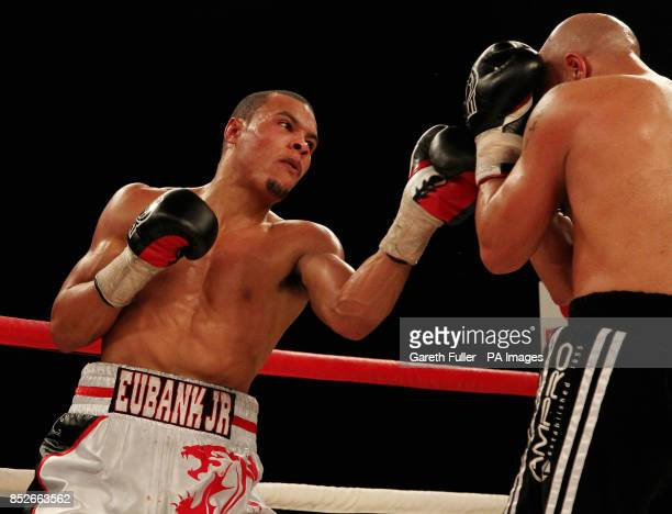 Chris Eubank Jnr takes on Frank Borg in their middleweight bout at Glow Bluewater Greenhithe Kent