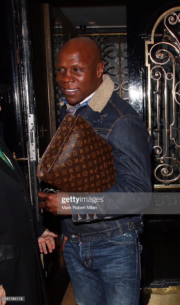 <a gi-track='captionPersonalityLinkClicked' href=/galleries/search?phrase=Chris+Eubank&family=editorial&specificpeople=216217 ng-click='$event.stopPropagation()'>Chris Eubank</a> leaving Scotts restaurant on September 24, 2013 in London, England.