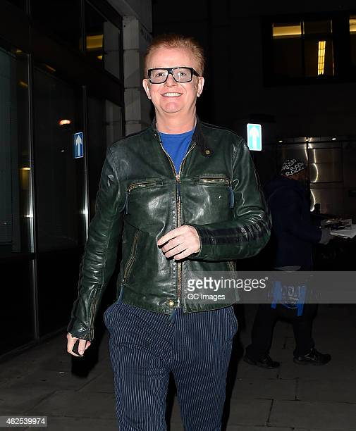 Chris Evan leaves BBC Studios following The One Show on January 30 2015 in London England