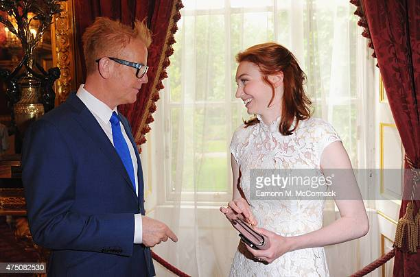 Chris Evans and Eleanor Tomlinson attend The Final Of BBC2's 500 Words Competitionat St James Palace on May 29 2015 in London England