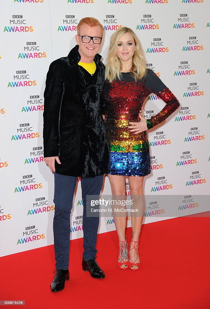 Chris Evans and Fearne Cotton attend the BBC Music Awards at Genting Arena on December 10, 2015 in Birmingham, England.