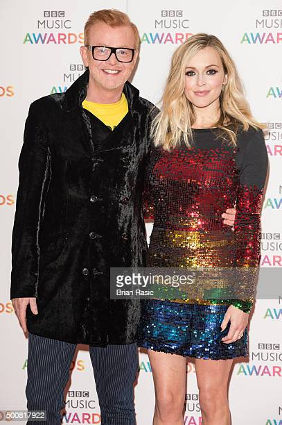 Chris Evans and Fearne Cotton attend the BBC Music Awards at Genting Arena on December 10 2015 in Birmingham England