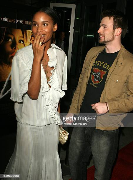 Chris Evans and Joy Bryant attend Jessica Biel at the 'London' Premiere at Arclight Theatre on January 13 2006 in Hollywood CA