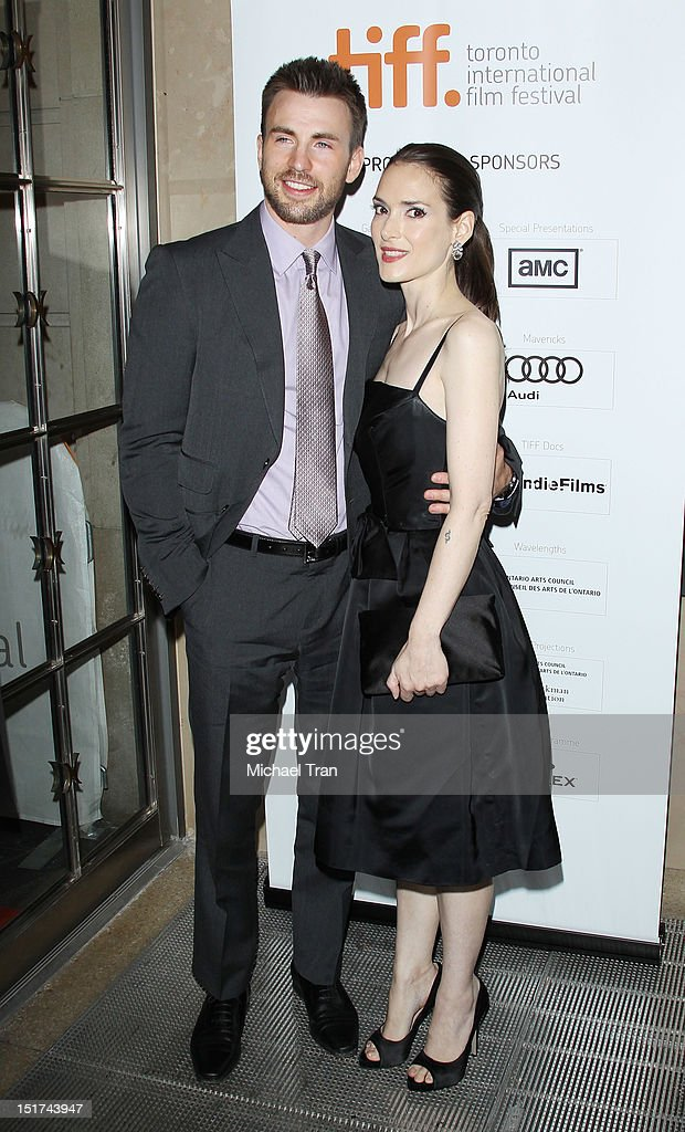 Chris Evans and Winona Ryder arrive at 'The Iceman' premiere during the 2012 Toronto International Film Festival held at Princess of Wales Theatre on...