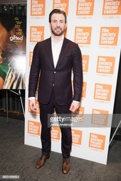 Chris Evans attends 'Gifted' New York premiere at New York Institute of Technology on April 6 2017 in New York City
