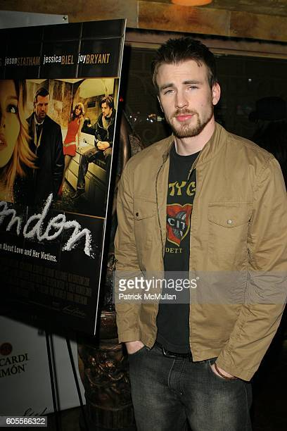 Chris Evans attends Jessica Biel at the 'London' Premiere at Arclight Theatre on January 13 2006 in Hollywood CA