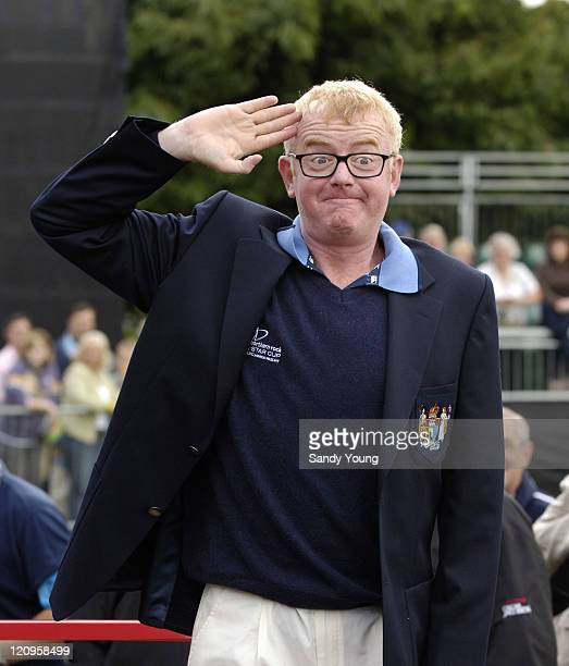 Chris Evans during The Northern Rock All Star Charity Gala Golf Tournament Practice Day 1 at Celtic Manor Resort in Newport Great Britain