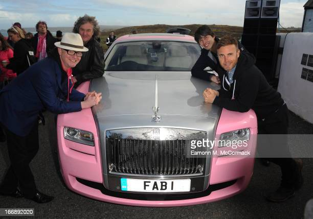 Chris Evans Gary Barlow James May and Professor Brian Cox launch FAB1 Million by driving from Land's End to John O'Groats on April 18 2013 in Land's...