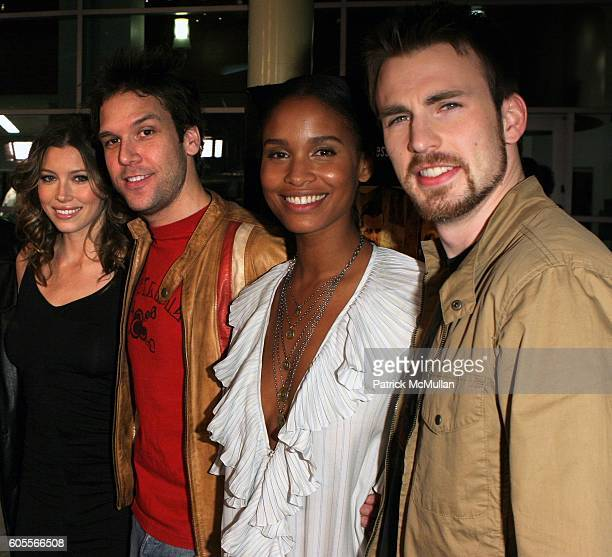 Chris Evans Joy Bryant Jessica Biel and Dane Cook attend Jessica Biel at the 'London' Premiere at Arclight Theatre on January 13 2006 in Hollywood CA