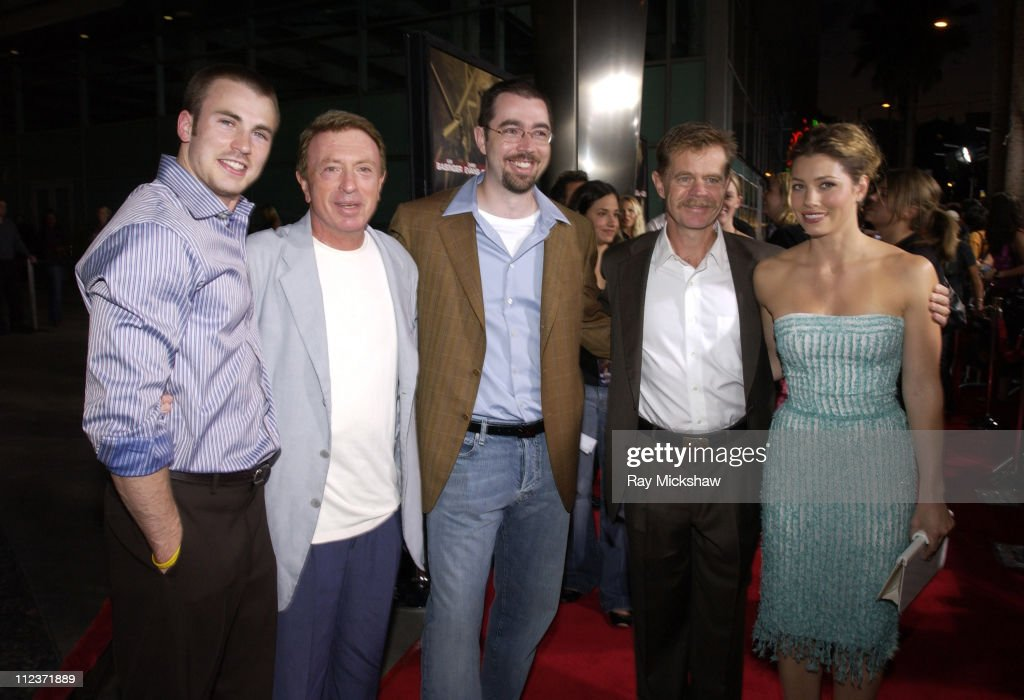 <a gi-track='captionPersonalityLinkClicked' href=/galleries/search?phrase=Chris+Evans+-+Actor&family=editorial&specificpeople=6873149 ng-click='$event.stopPropagation()'>Chris Evans</a>, <a gi-track='captionPersonalityLinkClicked' href=/galleries/search?phrase=Larry+Cohen&family=editorial&specificpeople=238848 ng-click='$event.stopPropagation()'>Larry Cohen</a>, writer, Chris Morgan, writer, <a gi-track='captionPersonalityLinkClicked' href=/galleries/search?phrase=William+H.+Macy&family=editorial&specificpeople=202170 ng-click='$event.stopPropagation()'>William H. Macy</a> and <a gi-track='captionPersonalityLinkClicked' href=/galleries/search?phrase=Jessica+Biel&family=editorial&specificpeople=203011 ng-click='$event.stopPropagation()'>Jessica Biel</a>