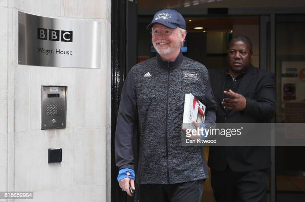 Chris Evans leaves BBC Wogan House after presenting his Radio 2 Breakfast Show on July 19 2017 in London England The BBC will publish the pay of its...