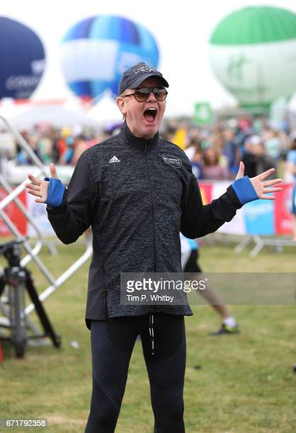 Chris Evans poses for a photo ahead of participating in The Virgin London Marathon on April 23 2017 in London England