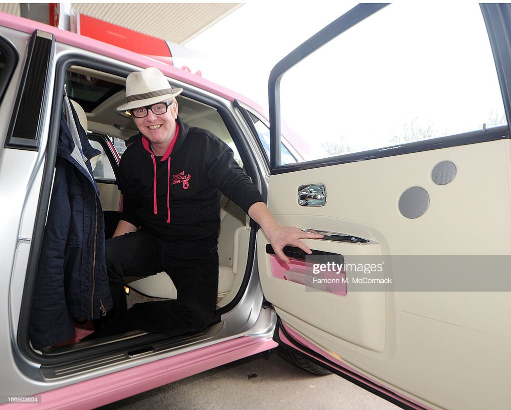Chris Evans poses for a photograph during the FAB1 Million by drive from Land's End to John O'Groats on April 18, 2013 in Bristol, United Kingdom. FAB1 Million aims to raise one million pounds for Breast Cancer Care using a bespoke pink Rolls Royce Ghost with the original FAB1 Thunderbirds number plate, which is available for hire.