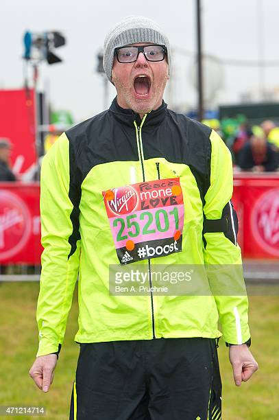 Chris Evans poses for photographs at the celebrity start at The London Marathon 2015 on April 26 2015 in London England