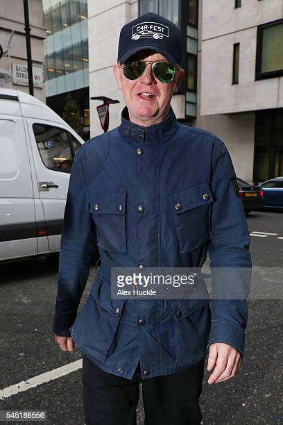 Chris Evans seen arriving at the BBC Radio 2 Studios on July 05 2016 in London England