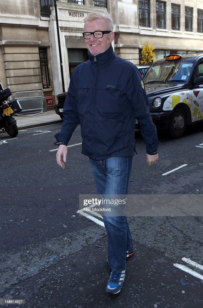 Chris Evans seen at BBC Radio 2 on December 21, 2012 in London, England.