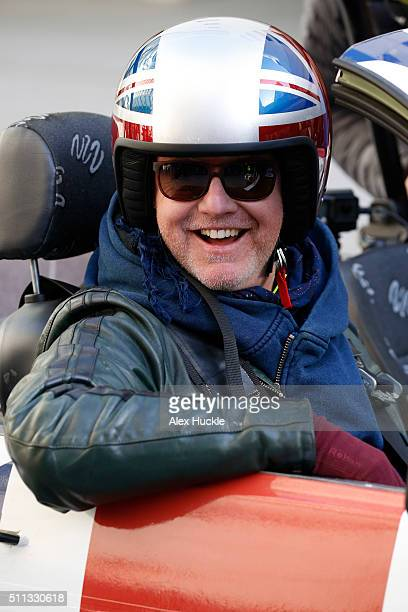 Chris Evans seen filming scenes for 'Top Gear' at the BBC Portland Place on February 19 2016 in London England
