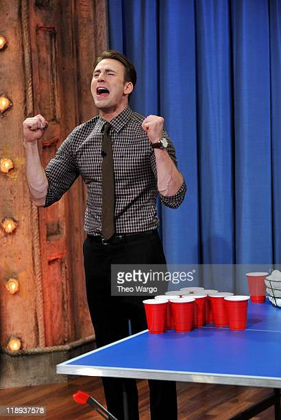 Chris Evans visits 'Late Night With Jimmy Fallon' at Rockefeller Center on July 12 2011 in New York City