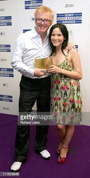 Chris Evans winner of the Music Radio Personality of the Year Award and Andrea Corr